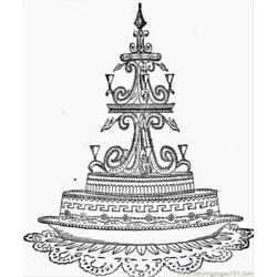 Ake Decoration In White Icing Free Coloring Page for Kids