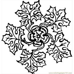 Atic Leaf Decoration 2.svg.hi Free Coloring Page for Kids