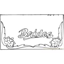 Brides Card Coloring Age Free Coloring Page for Kids