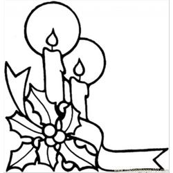 Candles For Christmas Free Coloring Page for Kids