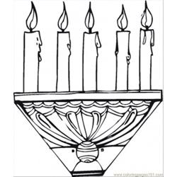 Candle Stick Free Coloring Page for Kids
