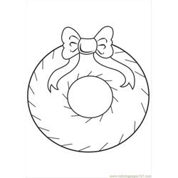 Christmas Decoration  Free Coloring Page for Kids