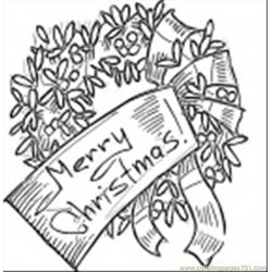 Coration Wreath Coloring Page