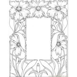 Gorgeous Picture Frame Free Coloring Page for Kids