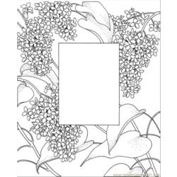 Photo Frame Free Coloring Page for Kids