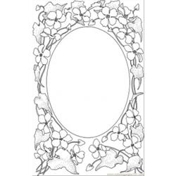 Picture Frame Free Coloring Page for Kids