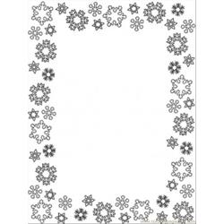 Snowflakes Frame Free Coloring Page for Kids
