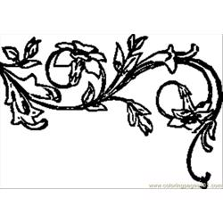 Tic Floral Decoration.svg.med Free Coloring Page for Kids