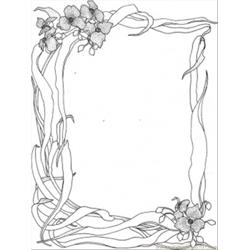Wild Nature Frame Free Coloring Page for Kids