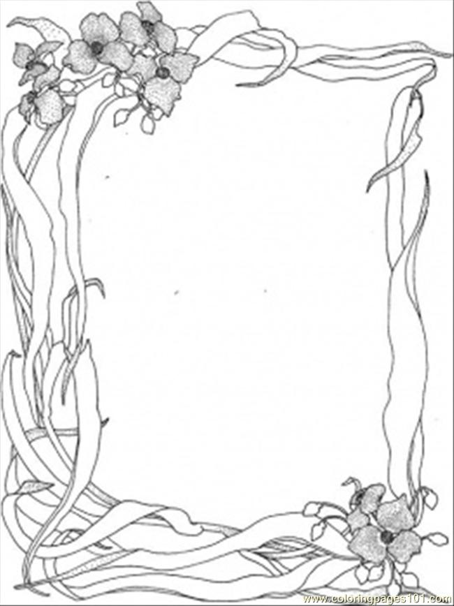 Wild Nature Frame Coloring Page