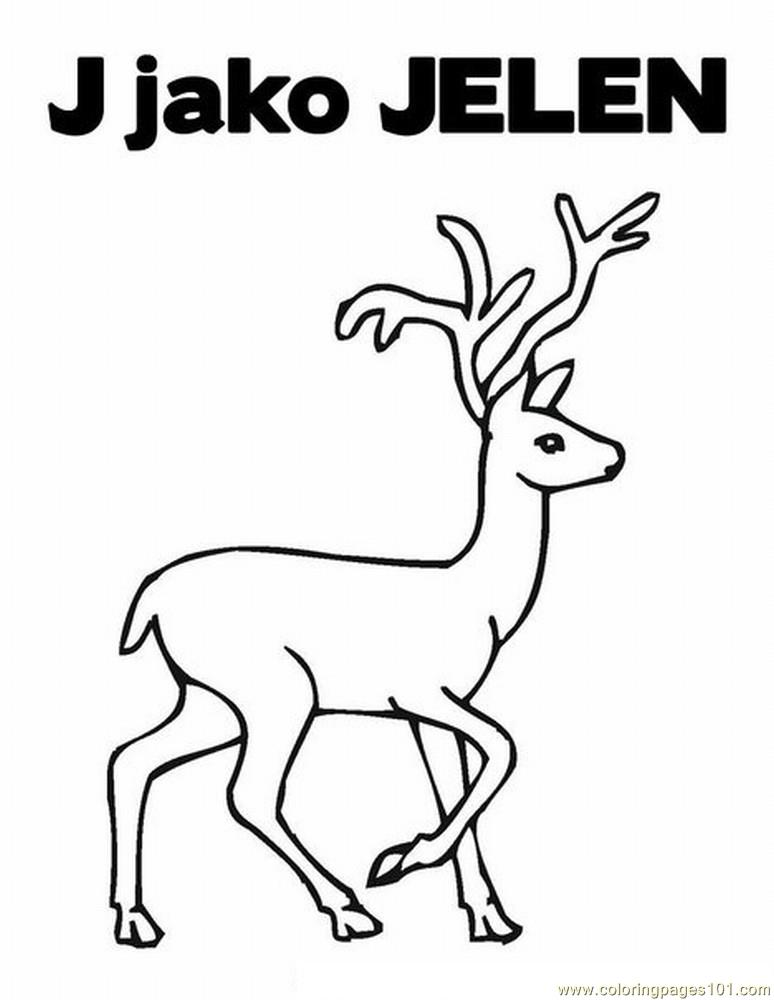 J jelen Coloring Page Free Deer Coloring Pages