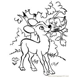 Baby Deers Free Coloring Page for Kids