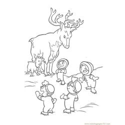 Deer little einsteins Free Coloring Page for Kids