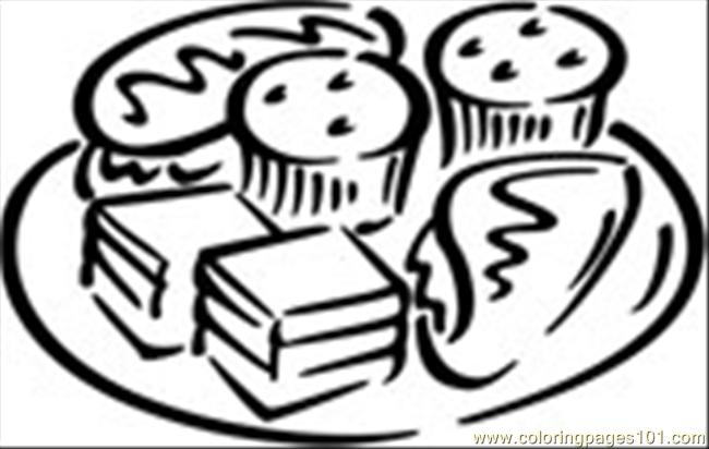 Desserts Coloring Page Free Desserts Coloring Pages