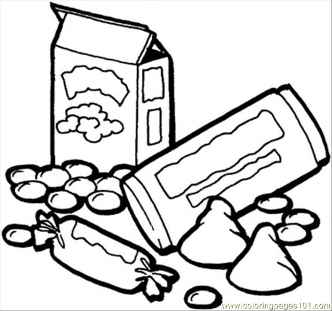 Candies Coloring Page Free Desserts Coloring Pages
