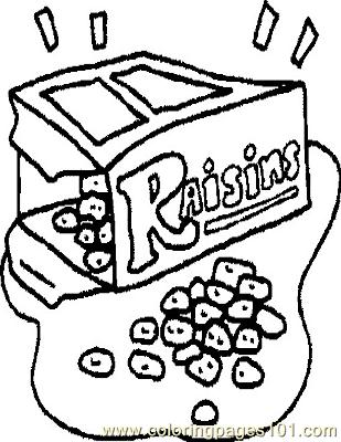 Raisens Coloring Page