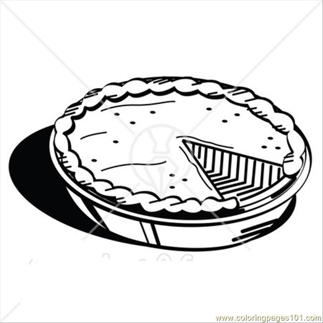 Rved For Thanksgiving Dessert Coloring Page