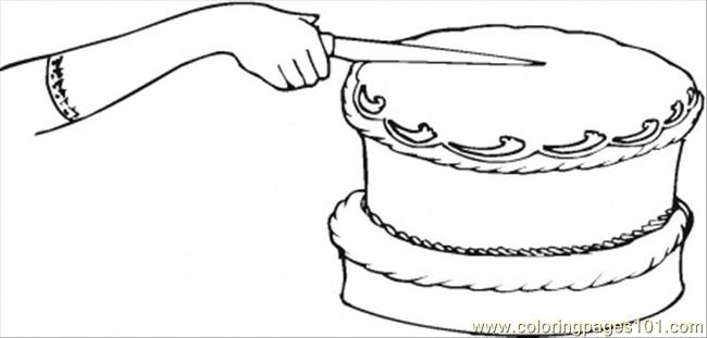 Sweet Chocolate Cake Coloring Page