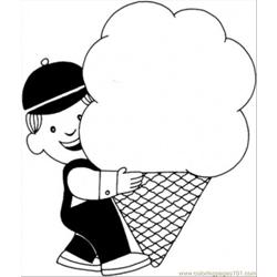 With Ice Cream Coloring Page