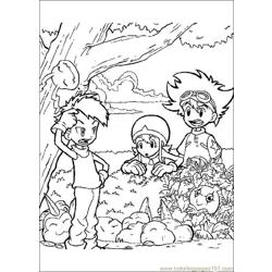 Digi Mon Free Coloring Page for Kids