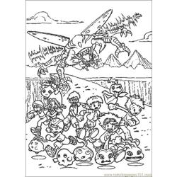 Digimon12 coloring page