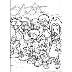 Digimon13 coloring page