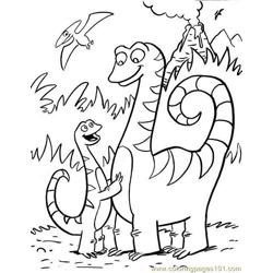 Dinosaur044 Free Coloring Page for Kids