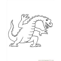 Dinosaur  Free Coloring Page for Kids