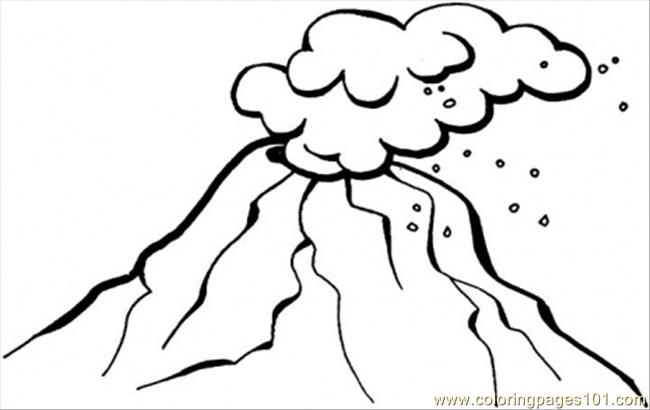 Volcano Coloring Pages For