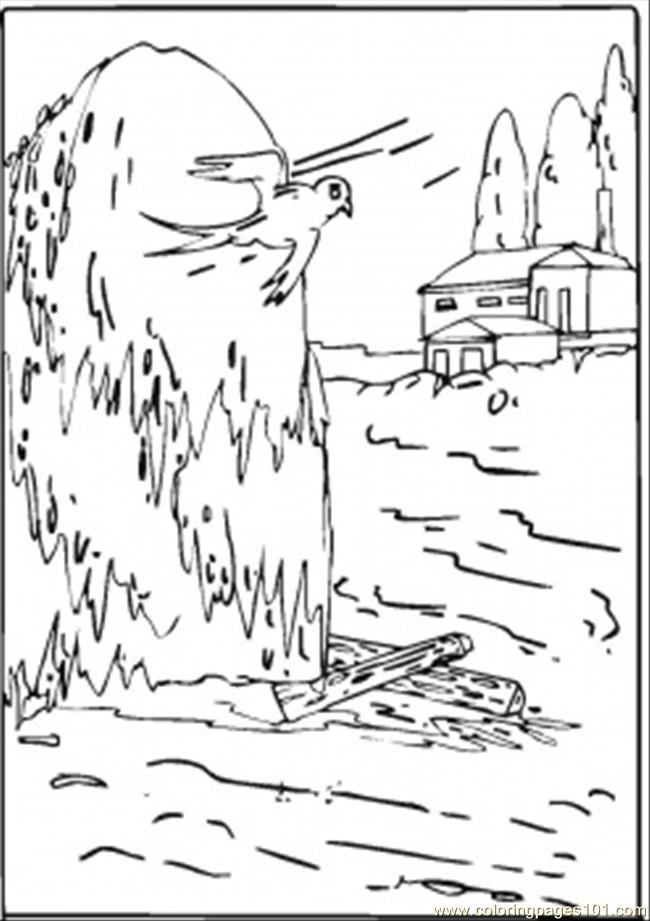 Flooding In The Village Coloring Page Free Disaster