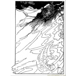 Storm On The Sea Free Coloring Page for Kids