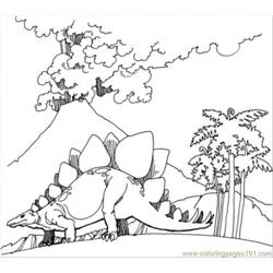Volcano Goes Mad coloring page