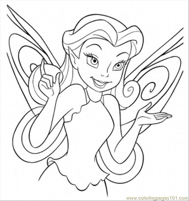 beautiful tinkerbell coloring page - Picture Of Tinkerbell To Color