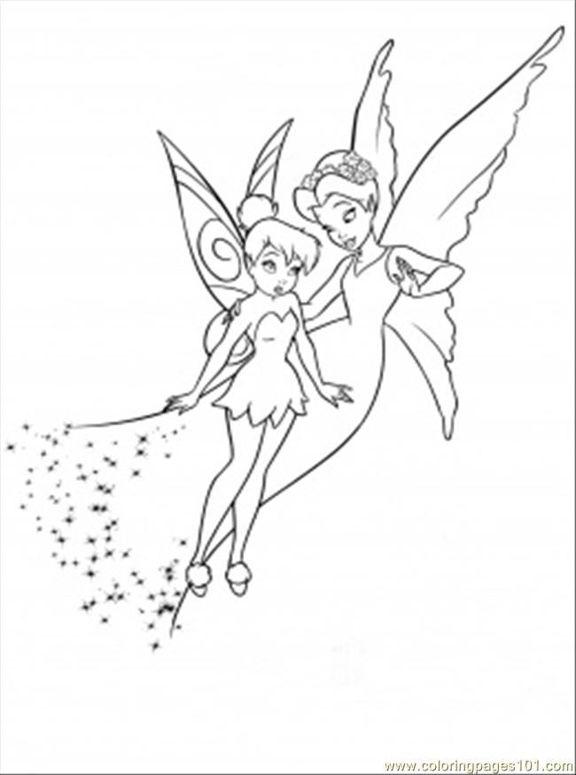 Shy Tinkerbell Coloring Page Free Disney Fairies