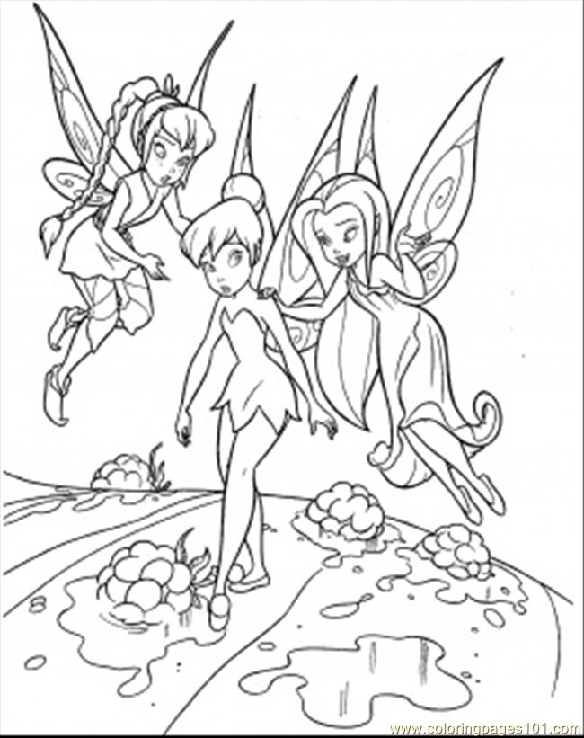 Teaching tinkerbell coloring page