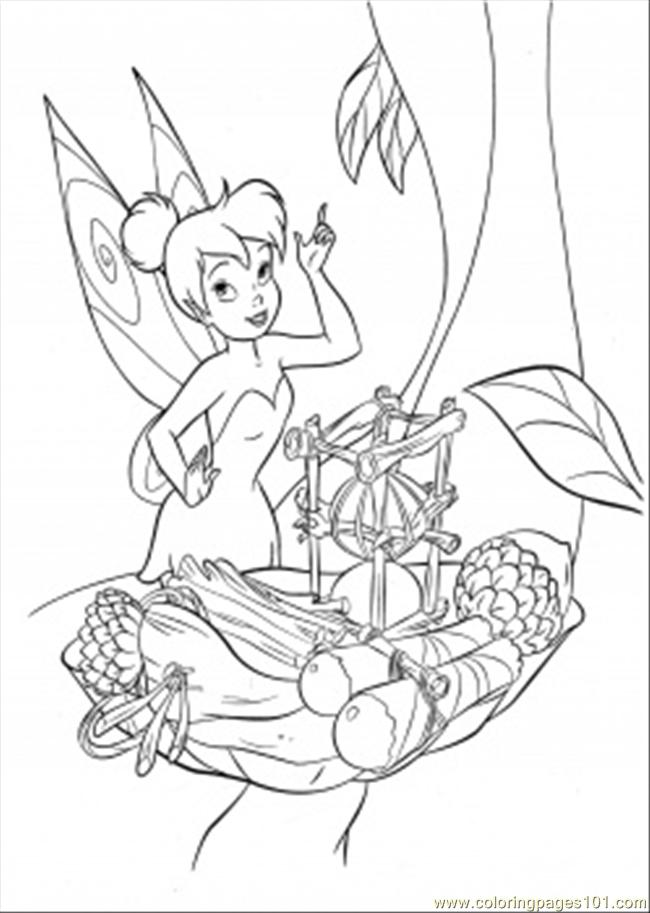 Tinkerbell Is Trying To Cook Coloring Page Free Disney