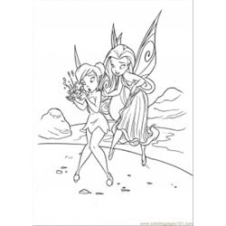 Silvermist Is Teaching Tinkerbell Free Coloring Page for Kids