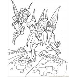 Teaching Tinkerbell Free Coloring Page for Kids