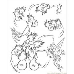 Tinkerbell At Work Free Coloring Page for Kids