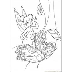 Tinkerbell Is Trying To Cook Free Coloring Page for Kids