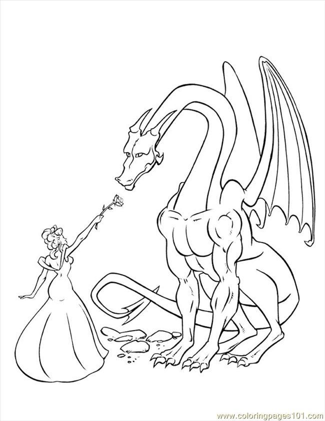 Princess Dragon Coloring Page