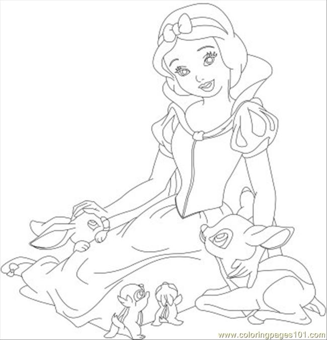 snow white 07 coloring page