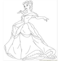 Ncess Coloring Pages Belle 05
