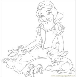 Snow White 07 Free Coloring Page for Kids