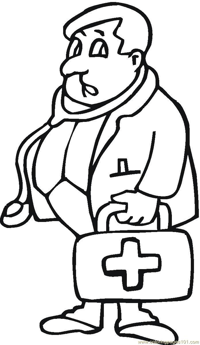 doctor coloring page - Doctor Coloring Pages