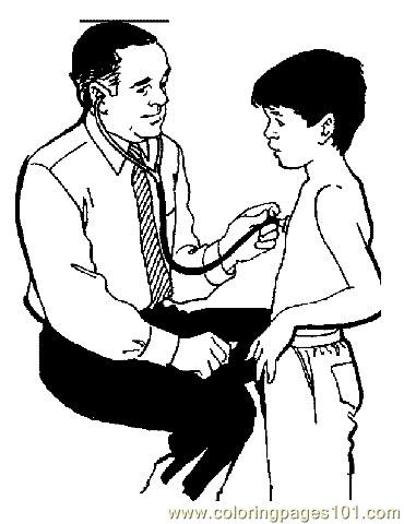 Doctor and Patient Coloring Page