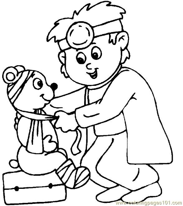 Doctor Coloring Page
