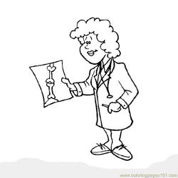Doctor check repoats Free Coloring Page for Kids