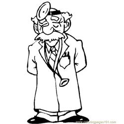 Doctor Free Coloring Page for Kids