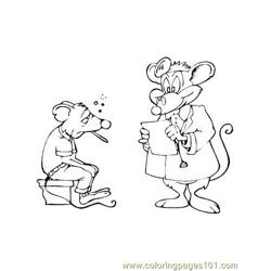 Doctor mouse Free Coloring Page for Kids